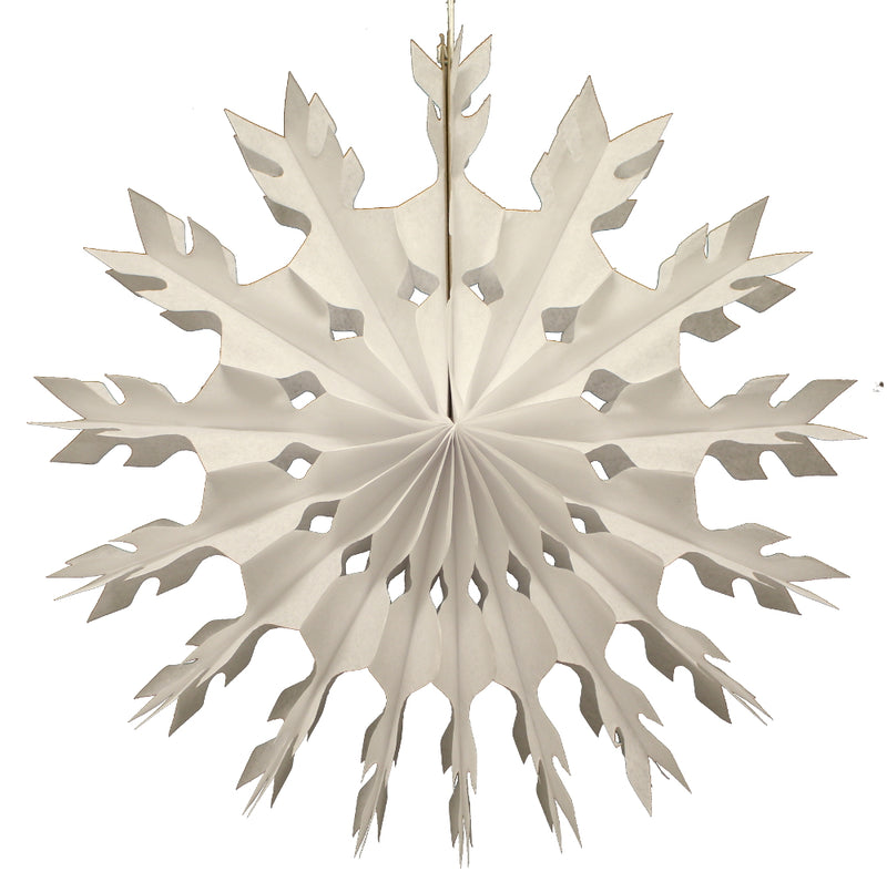 "White Honeycomb Tissue Snowflake- 15"" - Revelry Goods"
