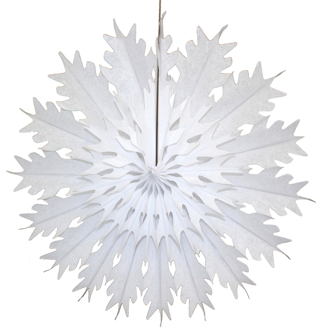 "Devra Party 19"" White Snowflake Tissue Honeycomb Holiday Decor 