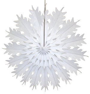 "Load image into Gallery viewer, White Honeycomb Tissue Snowflake- 19"" - Revelry Goods"