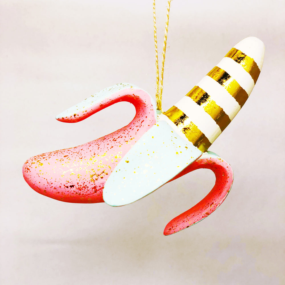 Pink Banana Ornament