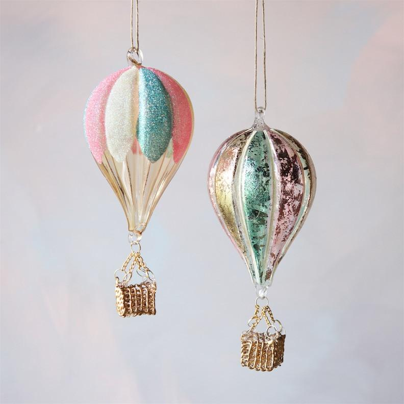 Glitter Pastel Hot Air Balloon Ornament - Revelry Goods