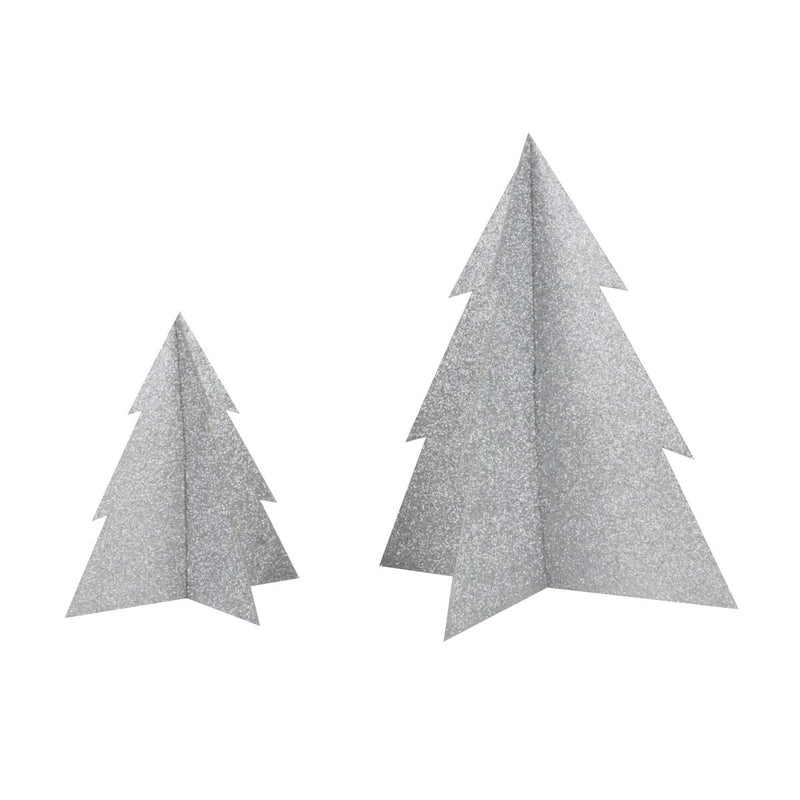 Silver Glitter Christmas Tree- 5 inch - Revelry Goods