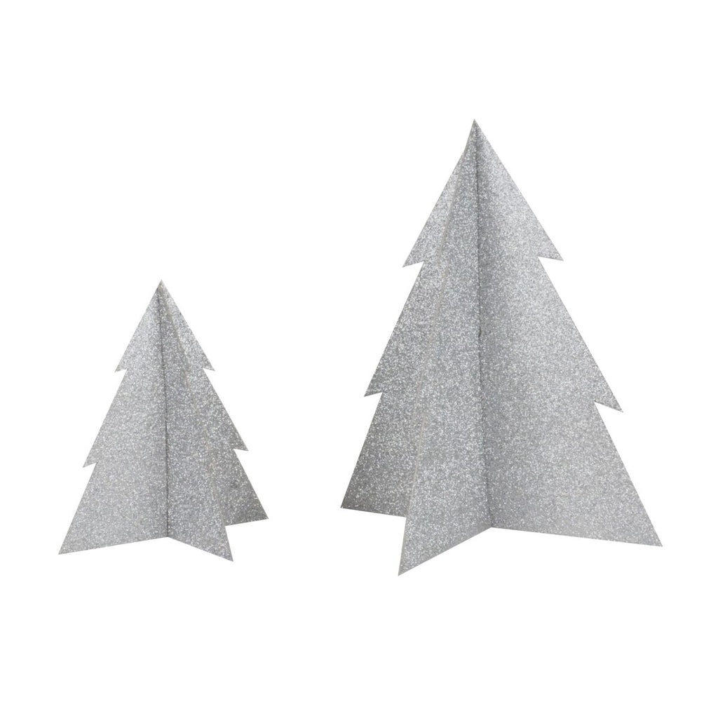 Silver Glitter Christmas Tree- 8 inch - Revelry Goods