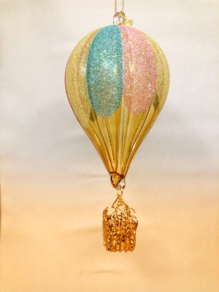 Glitter Pastel Hot Air Balloon Ornament
