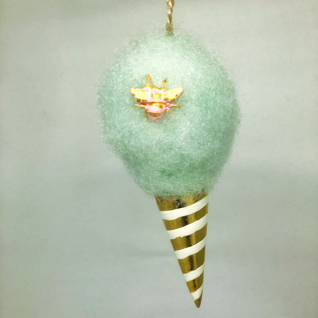 Mint Green Cotton Candy Ornament - Revelry Goods