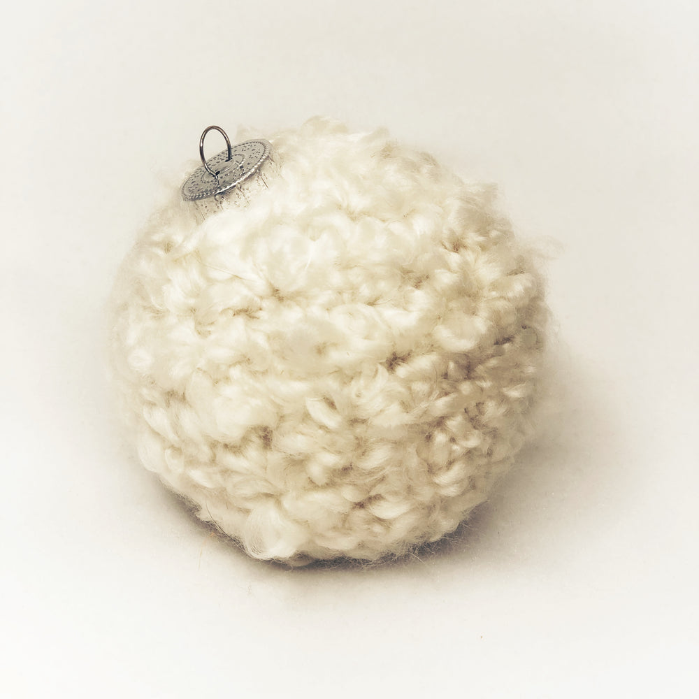 Ivory Crochet Ornament