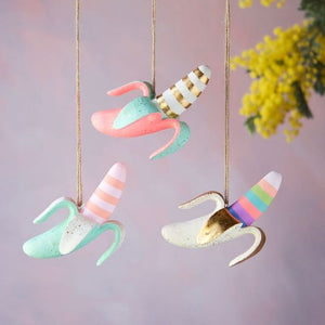 Pink Banana Ornament - Revelry Goods