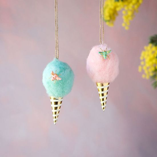 Pink Cotton Candy Ornament - Revelry Goods