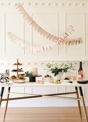 Rose Gold Cascade Paper Garlands