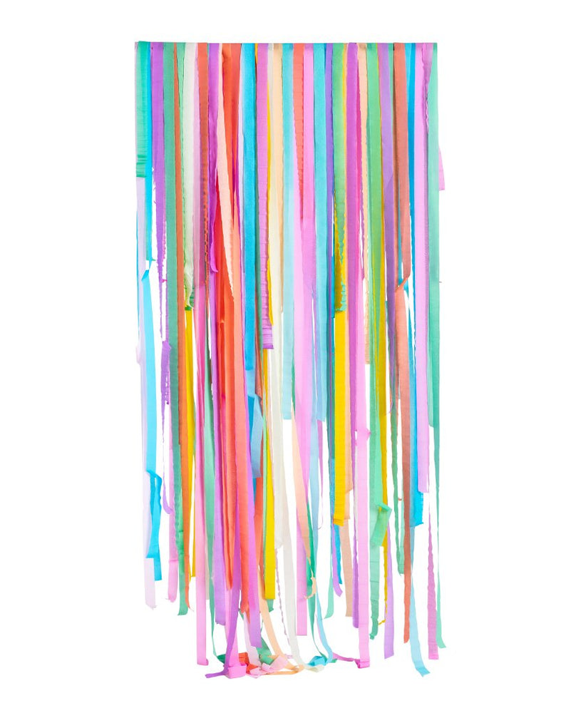 Pastel Rainbow Streamers