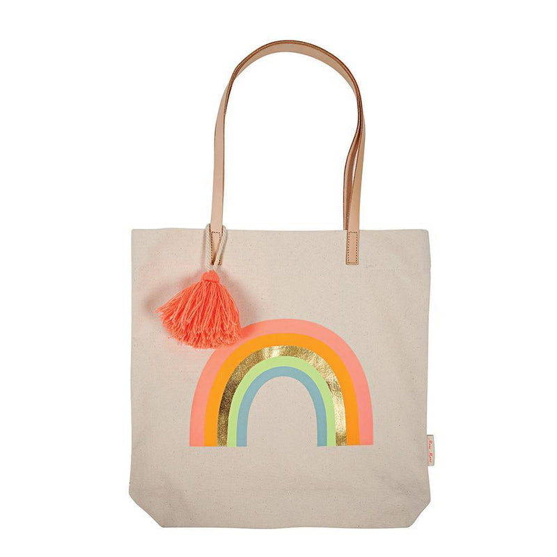 Canvas Rainbow Tote Bag - Revelry Goods