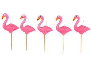 Load image into Gallery viewer, Flamingo Cake Candles - Revelry Goods