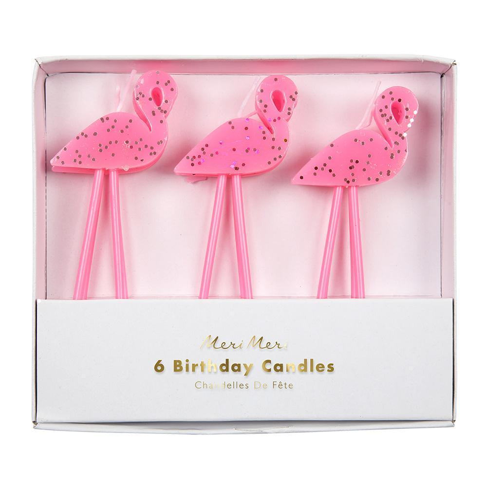 Glitter Flamingo Candles - Revelry Goods