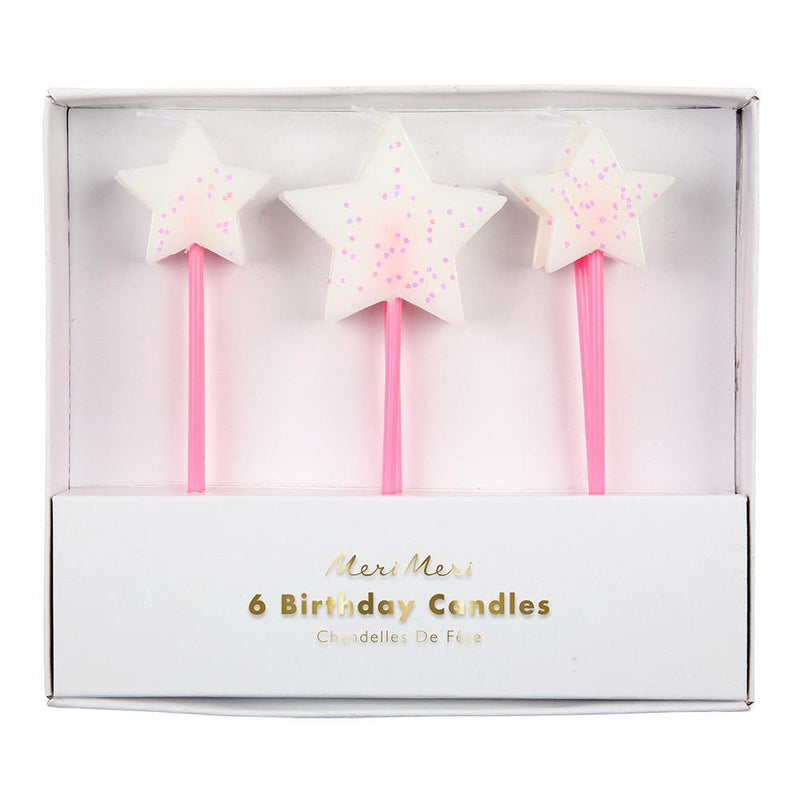 Meri Meri White Star Candles from Revelry Goods modern party shop