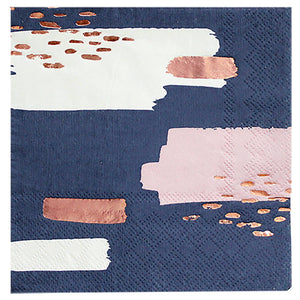 Erika Navy Abstract Paper Napkin - Revelry Goods