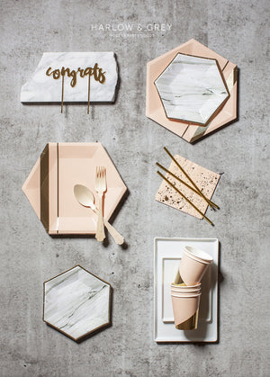 Load image into Gallery viewer, Goddess Pale Peach Splash Cocktail Paper Napkins - Revelry Goods
