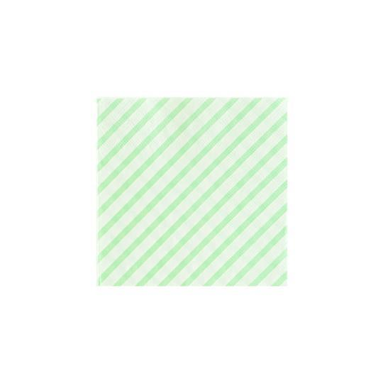 Mint Striped Cocktail Napkins - Revelry Goods