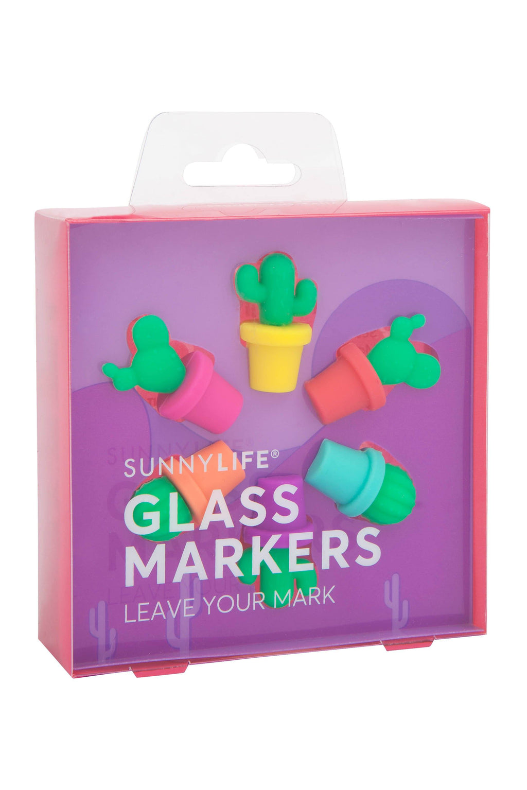 Cactus Glass Markers - Revelry Goods