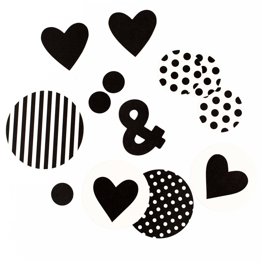 Black & White Confetti - Revelry Goods