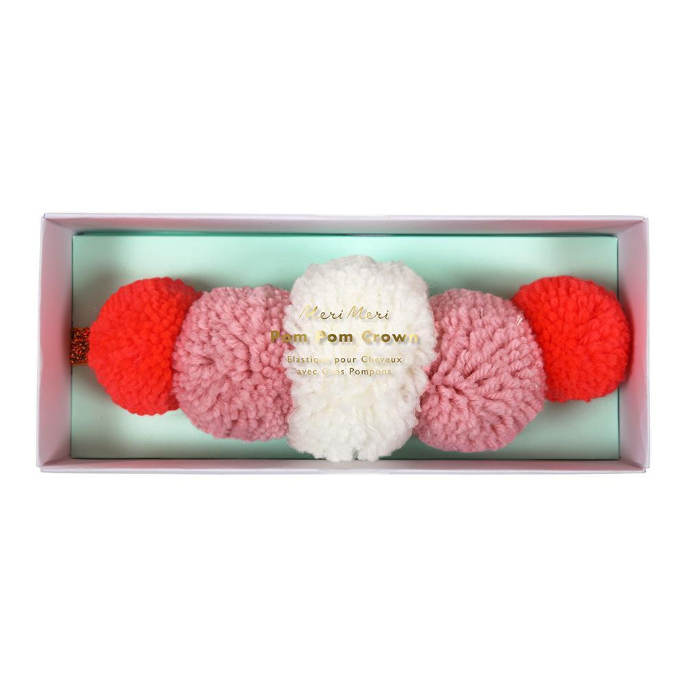 Pink Pom Pom Crown - Revelry Goods