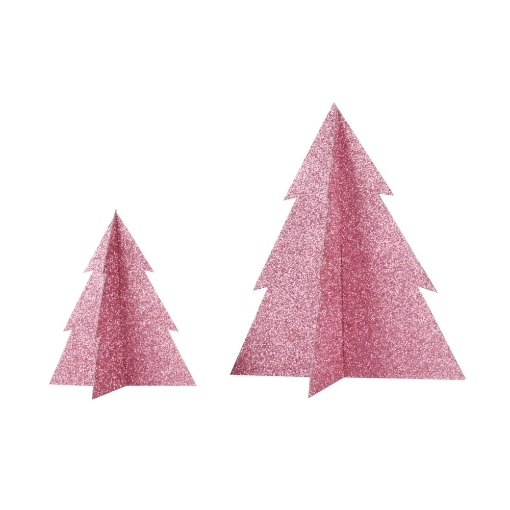 Pink Glitter Christmas Tree- 8 inch