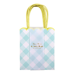 Blue Gingham Party Bags - Revelry Goods