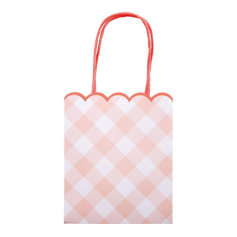 Pink Gingham Party Bags - Revelry Goods