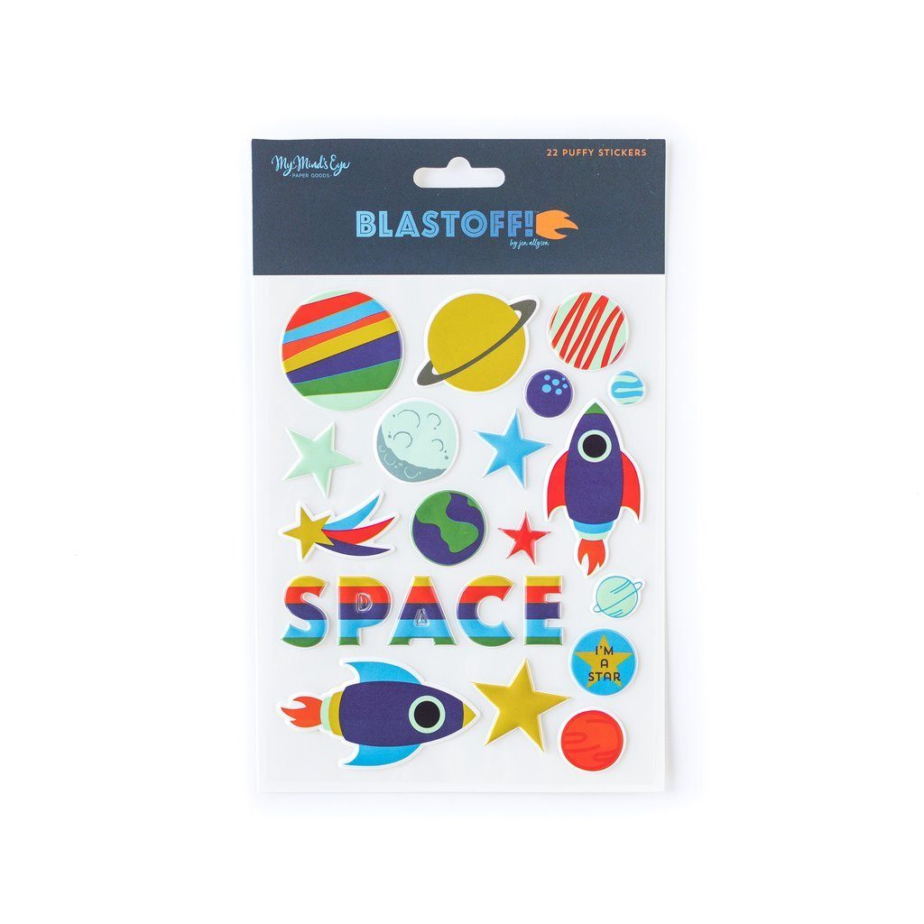 Blast Off Puffy Stickers - Revelry Goods
