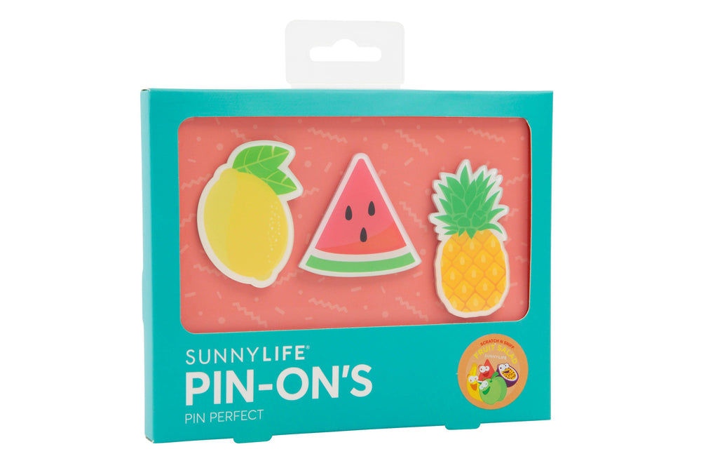 Load image into Gallery viewer, Fruit Salad Pin Ons- Set of 3 - Revelry Goods