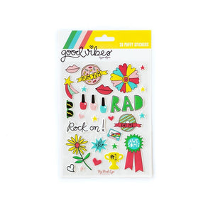 Good Vibes Puffy Stickers - Revelry Goods
