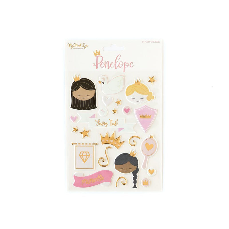 Penelope Puffy Stickers - Revelry Goods