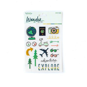 Wander Puffy Stickers - Revelry Goods