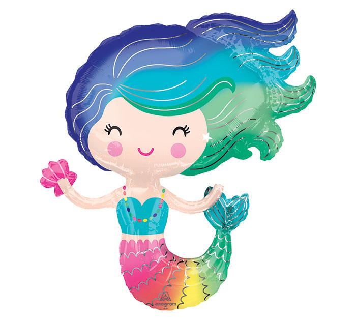 Colorful Mermaid Foil Balloon - Revelry Goods