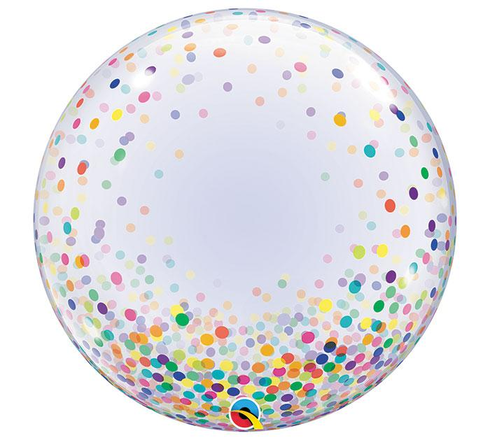 Colorful Painted Confetti Deco Bubble Balloon - Revelry Goods