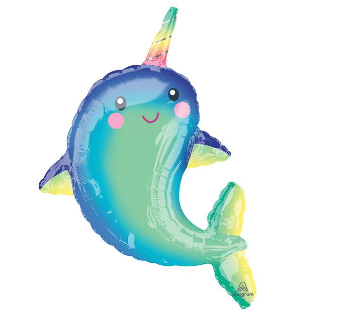 Happy Narwhal Foil Balloon - Revelry Goods