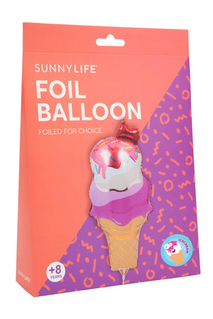 Load image into Gallery viewer, Ice Cream Foil Balloon on a Stick - Revelry Goods