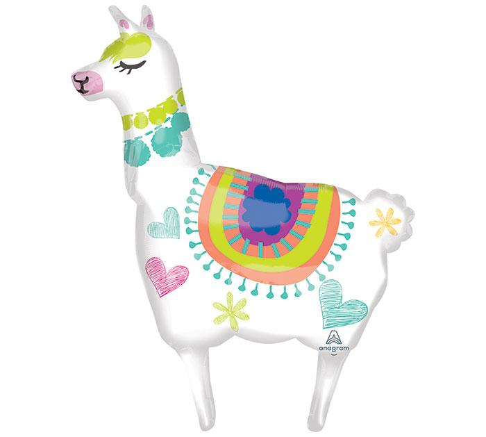 Llama Shaped Foil Balloon