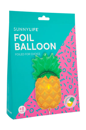 Pineapple Foil Balloon on a Stick - Revelry Goods