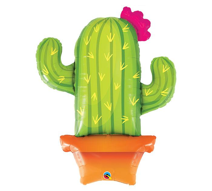 Potted Cactus Foil Balloon
