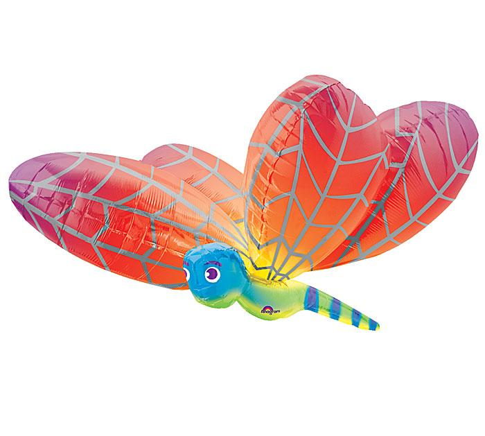 Red Dragonfly Foil Balloon - Revelry Goods