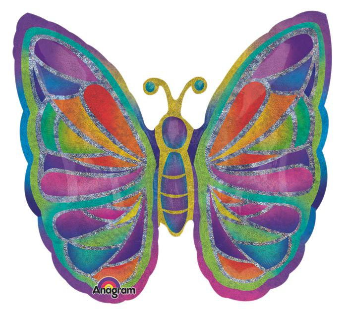 Sparkle Butterfly Foil Balloon - Revelry Goods