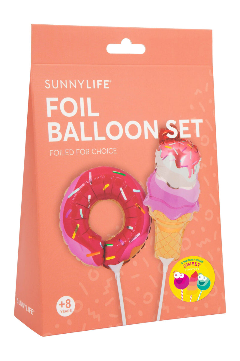 Sweet Tooth Small Foil Balloons on a Stick- Set of 2 - Revelry Goods