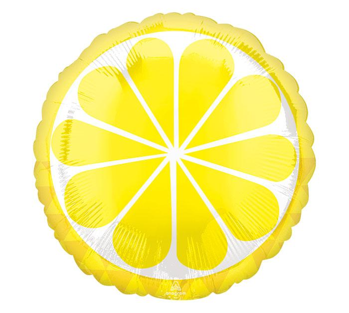 Tropical Lemon Foil Balloon - Revelry Goods