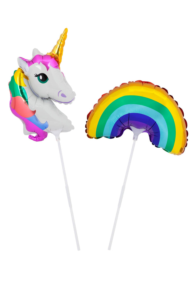Wonderland Small Foil Balloons on a Stick- Set of 2