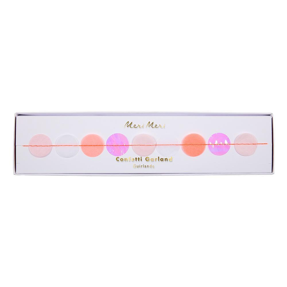 Load image into Gallery viewer, Coral & Pink Iridescent Confetti Garland - Revelry Goods