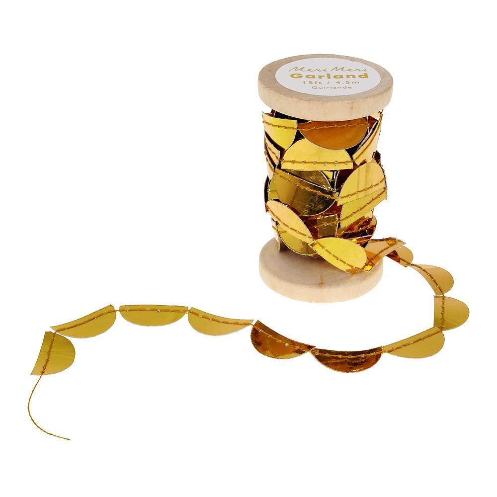 Gold Scallop Garland Spool