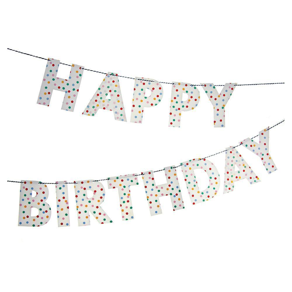 Happy Birthday Spotty Garland - Revelry Goods