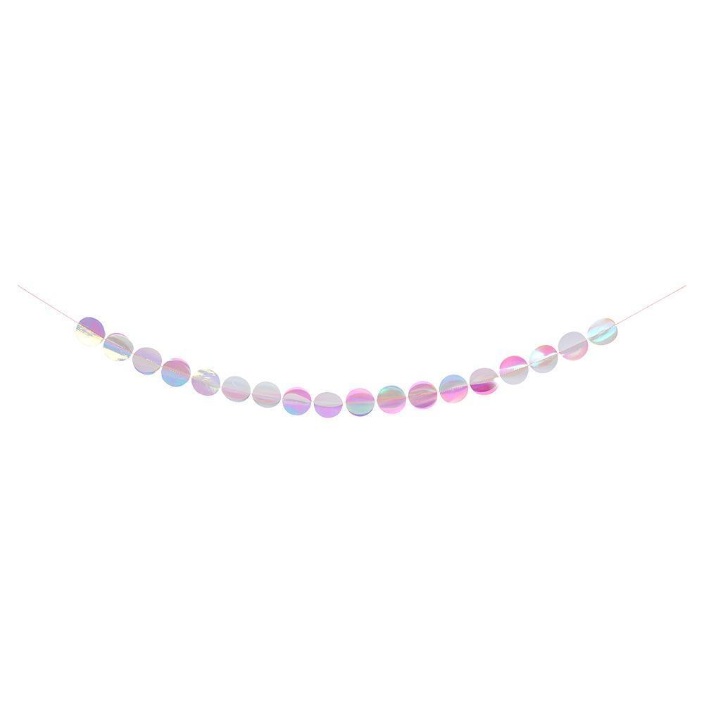 Iridescent Circles Garland