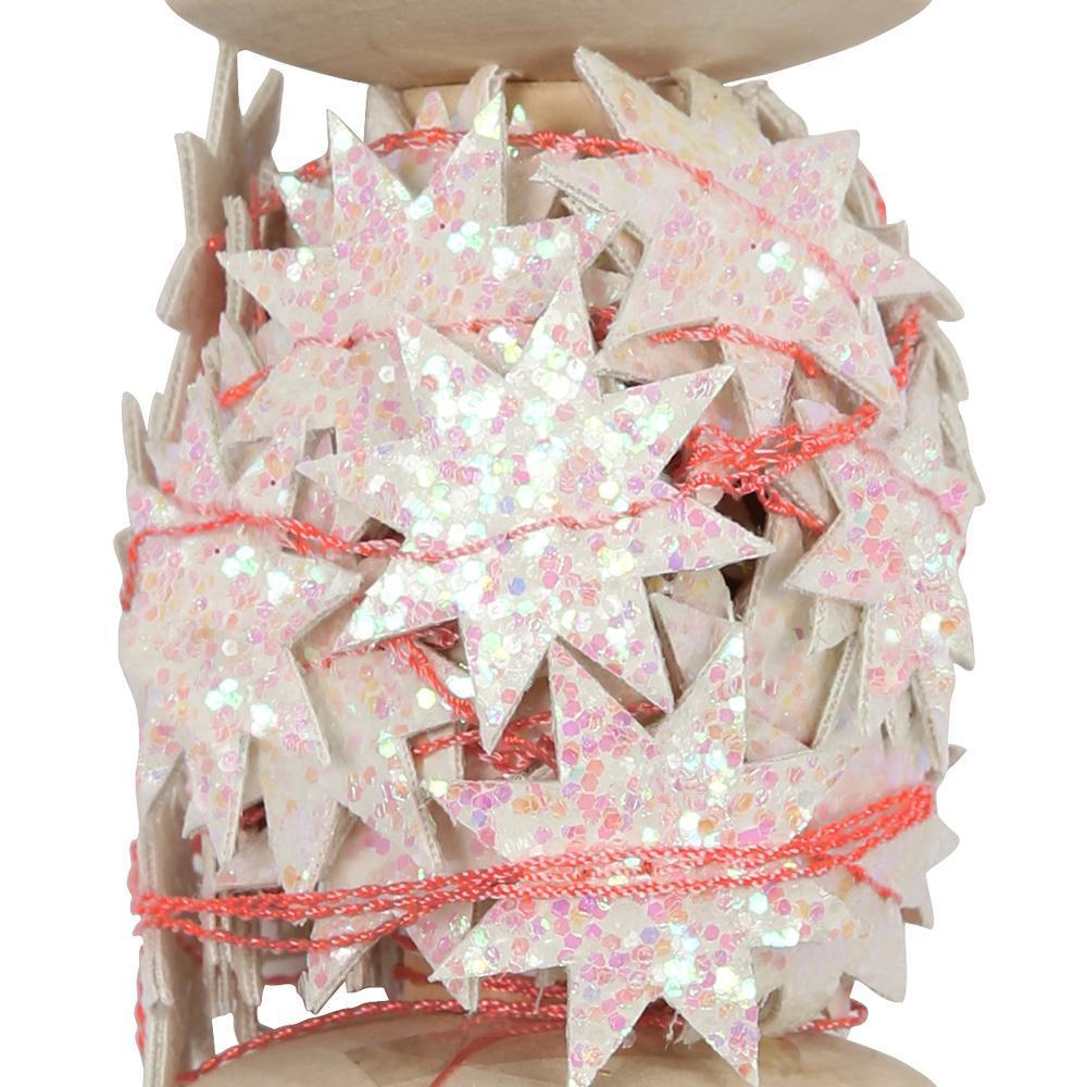 Iridescent Star Garland Spool - Revelry Goods