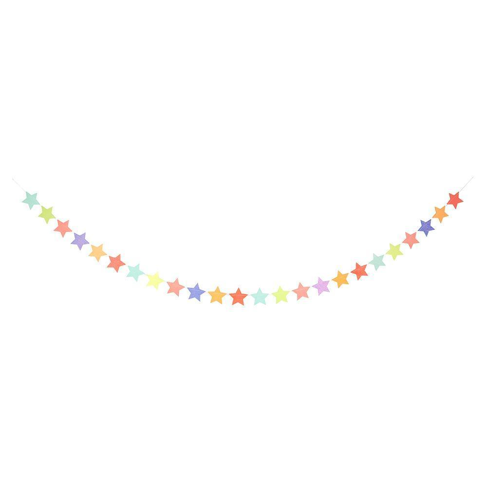 Multi Colored Star Garland - Revelry Goods